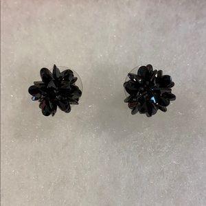 Kate Spade black rock candy stud earrings